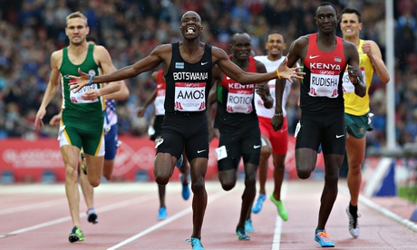 Glasgow 2014 : Nijel Amos storms to 800m gold beating David Rudisha