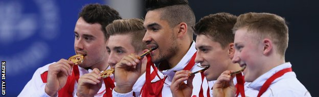 Glasgow 2014: England win double gymnastics team gold