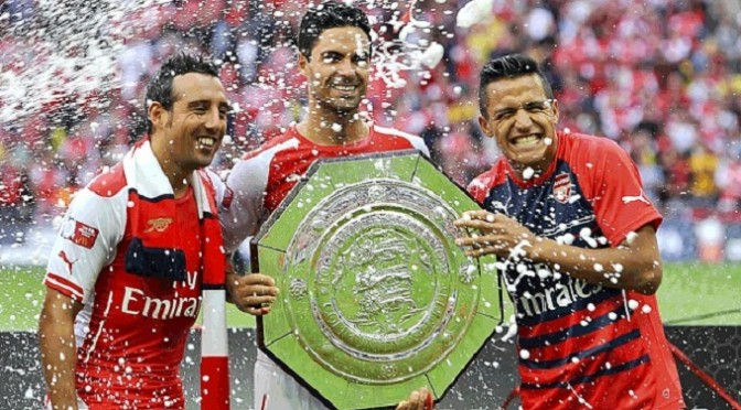 Football: Arsenal 3-0 Manchester City 0: Arsene Wenger's men coast to Community Shield victory