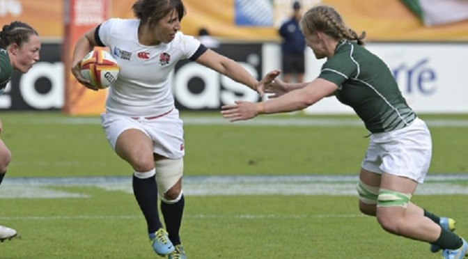 Women's Rugby World Cup: England 40-7 Ireland