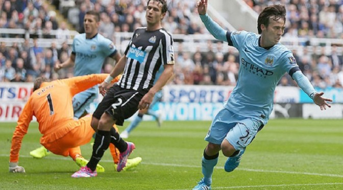 Premiership: Newcastle United 0-2 Manchester City