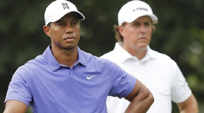 Golf: US PGA: Lee Westwood grabs lead as Tiger Woods struggles