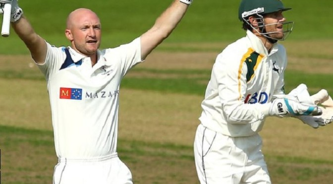 Cricket: Nottinghamshire v Yorkshire: Adam Lyth ton puts visitors on top