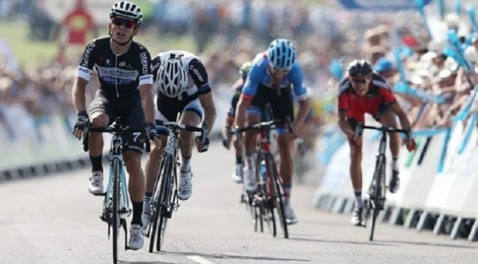 Tour of Britain: Kwiatkowski wins stage four to take overall lead