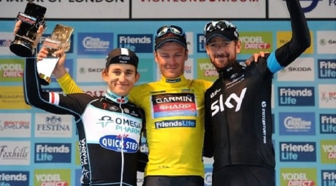 Tour of Britain: Cavendish edged by Kittel as Van Baarle wins title