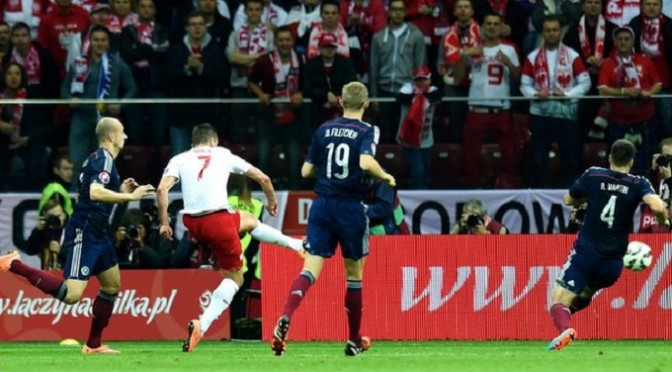 Euro 2016 Qualifying: Poland 2-2 Scotland