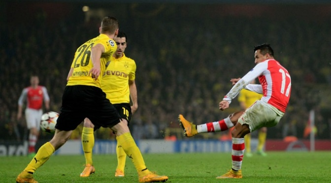 Champions League: Arsenal 2-0 Borussia Dortmund