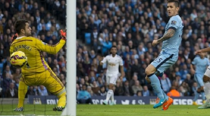 Premiership: Man City 2-1 Swansea