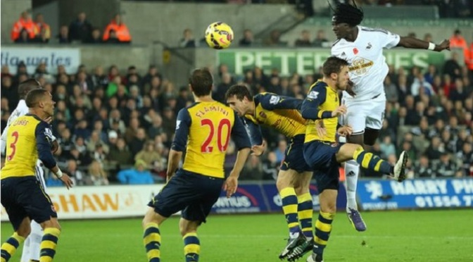 Premiership: Swansea 2-1 Arsenal