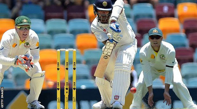Cricket: Australia v India: Murali Vijay hits century as bowlers struggle