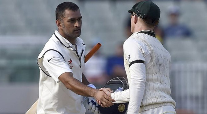 Cricket: Australia v India: MS Dhoni secures Test draw but loses series