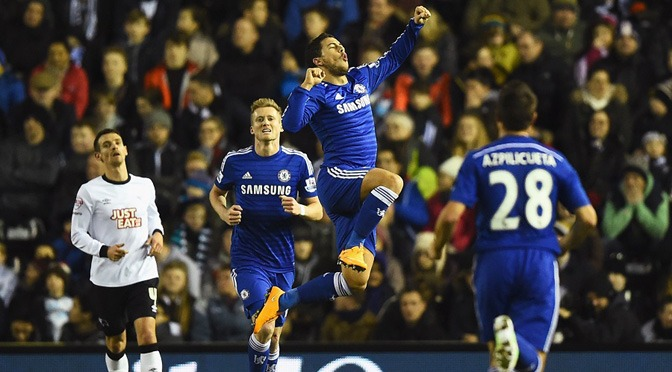 League Cup: Derby 1-3 Chelsea