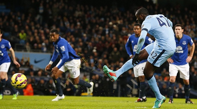 Premiership: Man City 1-0 Everton