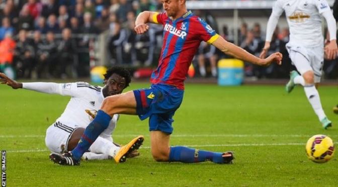 Premiership: Swansea 1-1 Crystal Palace