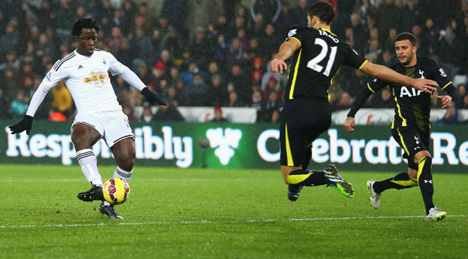 Premiership: Swansea 1-2 Spurs