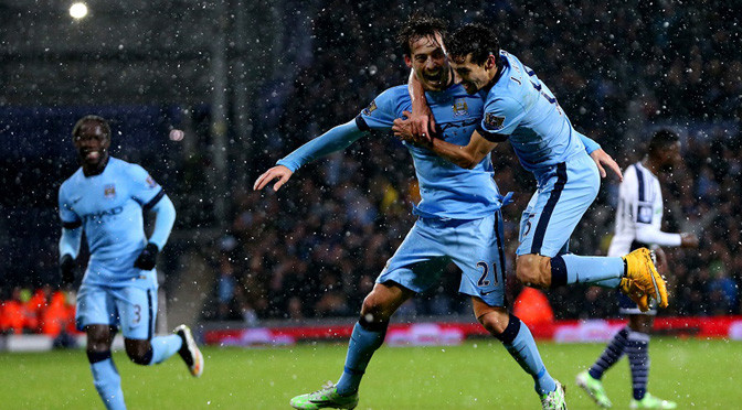 Premiership: West Brom 1-3 Man City
