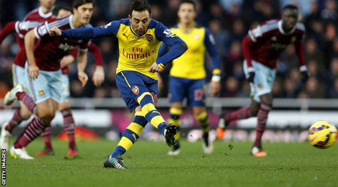 Premiership: West Ham 1-2 Arsenal
