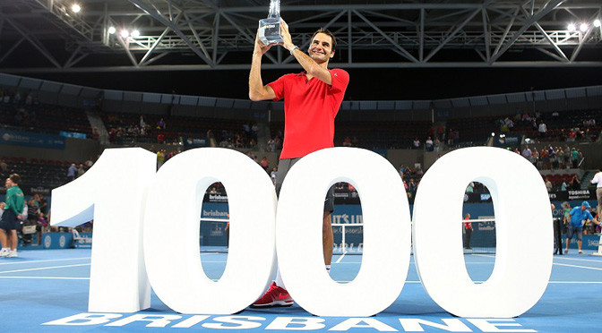 ATP Brisbane: Federer battles to claim 1,000th career victory
