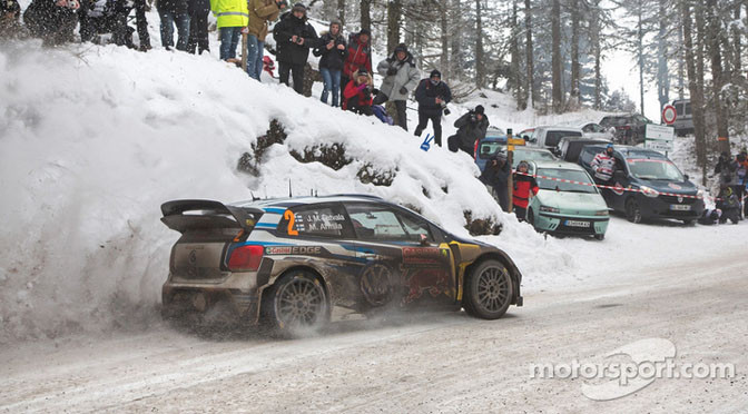 WRC: Ogier leads, Loeb breaks in Monte Carlo