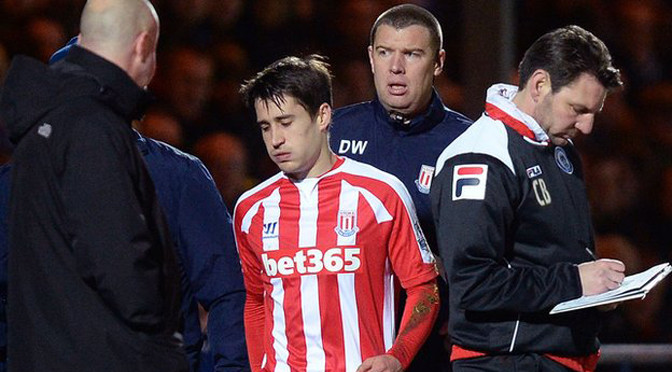 Premiership: Stoke striker Bojan Krkic ruled out for season with knee injury