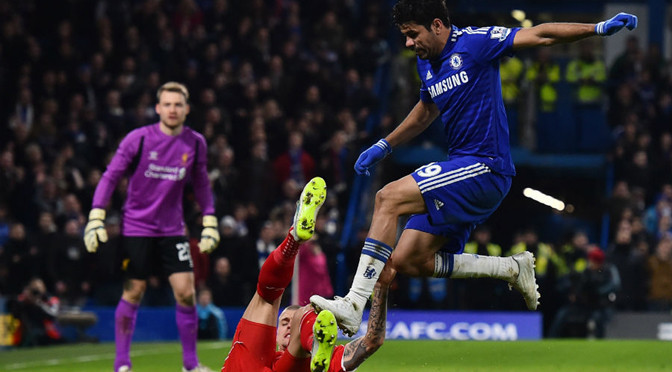 League Cup: Costa charged over stamp on Liverpool's Emre Can