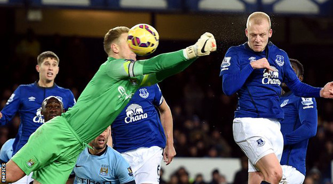 Premiership: Everton 1-1 Man City