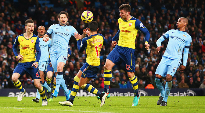 Premiership: Man City 0-2 Arsenal