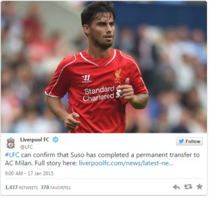 suso-leaves-for-ac-milan-tweet