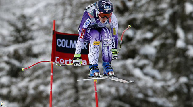 Skiing: Lindsey Vonn equals World Cup wins record in Italy