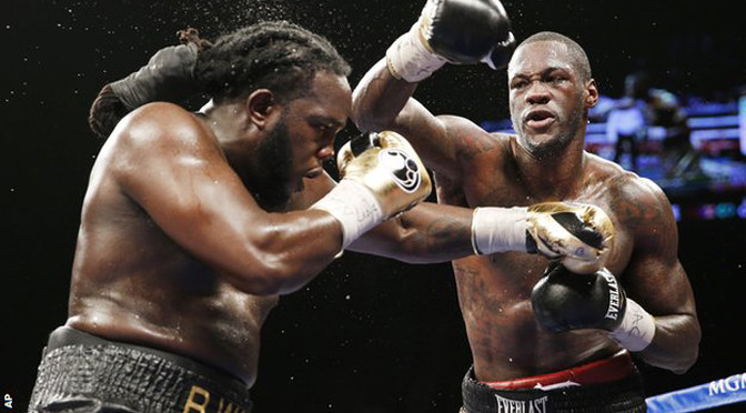 Boxing: Deontay Wilder beats Bermane Stiverne to win WBC title