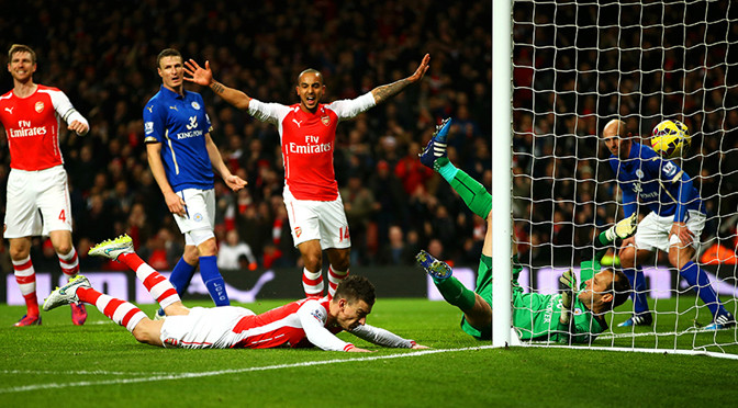 Premiership: Arsenal 2-1 Leicester