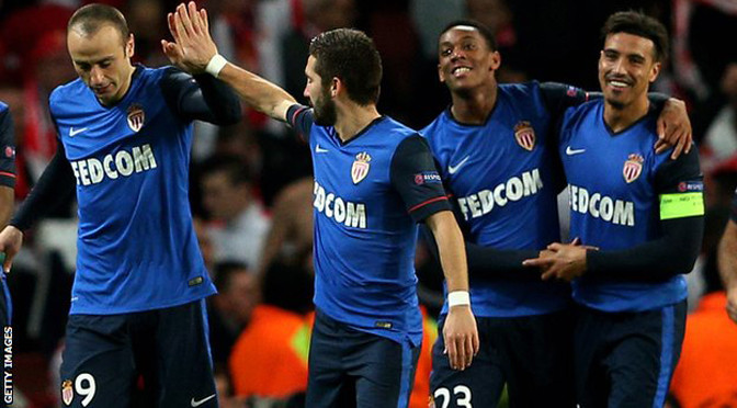 Champions League: Arsenal 1-3 Monaco