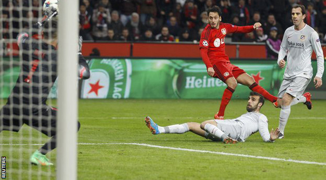 Champions League: Bayer Leverkusen 1-0 Atletico Madrid