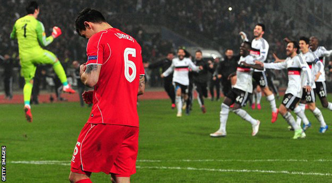Europa League: Besiktas 1-0 Liverpool (5-4 on penalties)