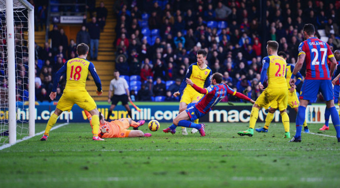 Premiership: Crystal Palace 1-2 Arsenal