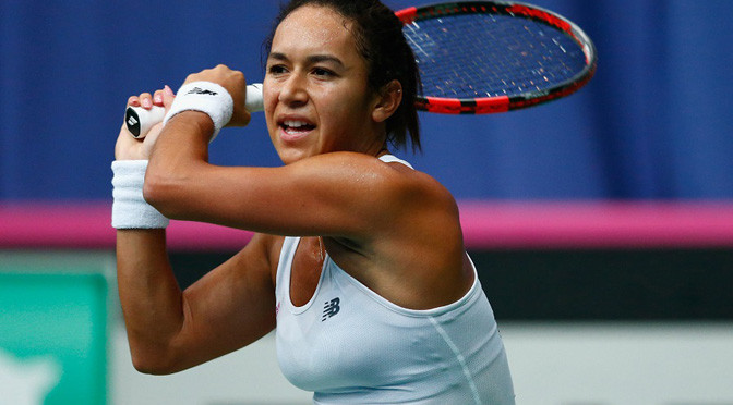 Fed Cup: Great Britain beat Ukraine to reach play-offs
