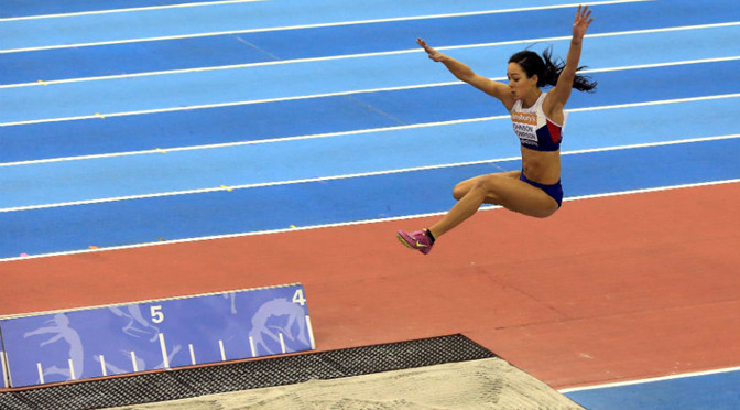 Athletics: Katarina Johnson-Thompson sets British long jump record