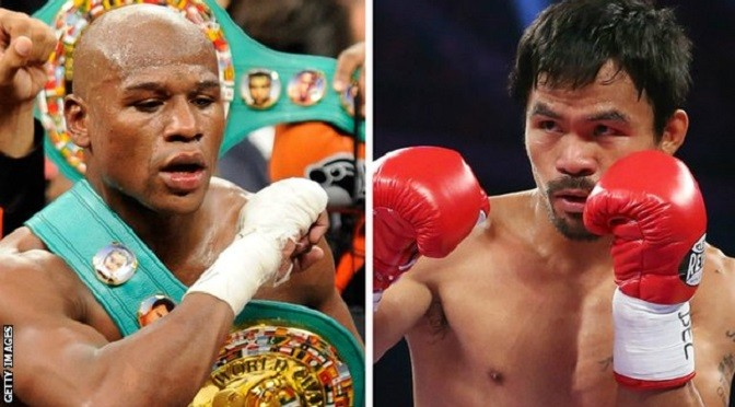 Boxing: Floyd Mayweather v Manny Pacquiao confirmed for 2 May
