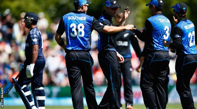 Cricket World Cup: New Zealand sink Scotland in Dunedin
