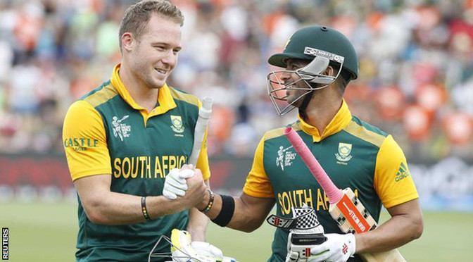 Cricket World Cup: South Africa beat Zimbabwe after record stand