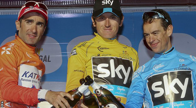 Cycling: Geraint Thomas wins the Volta ao Algarve for Team Sky