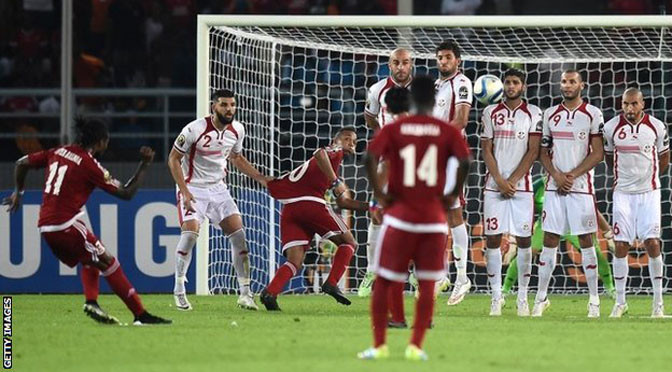 Africa Cup of Nations: Tunisia 1-2 Equatorial Guinea