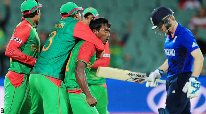 Cricket World Cup: England knocked out by Bangladesh
