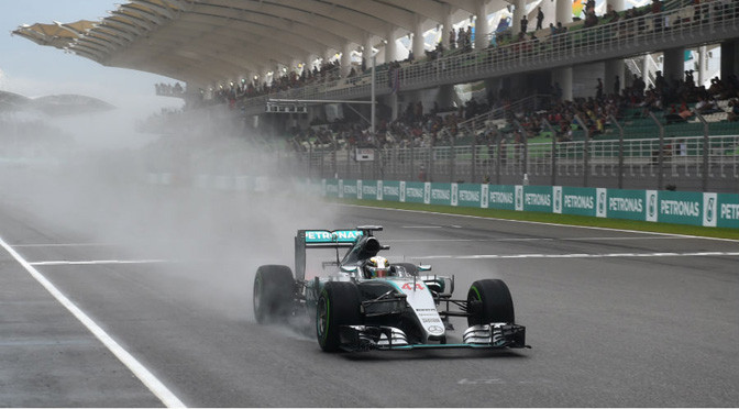 F1: Hamilton beats Vettel to pole in the wet