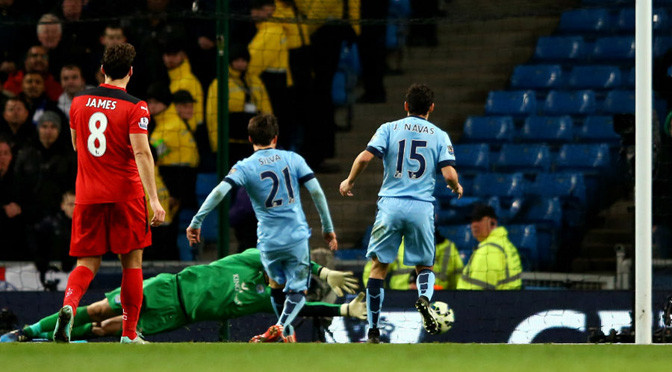 Premiership: Man City 2-0 Leicester