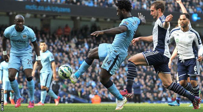 Premiership: Man City 3-0 West Brom