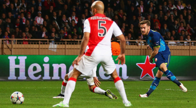 Champions League: Monaco 0-2 Arsenal (Monaco win on away goals)