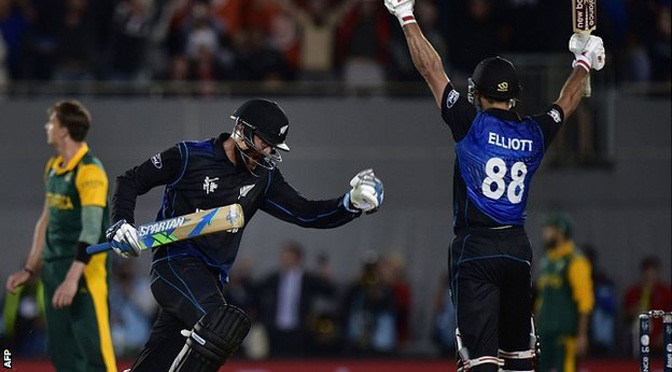 Cricket World Cup: New Zealand beat South Africa in thriller to final