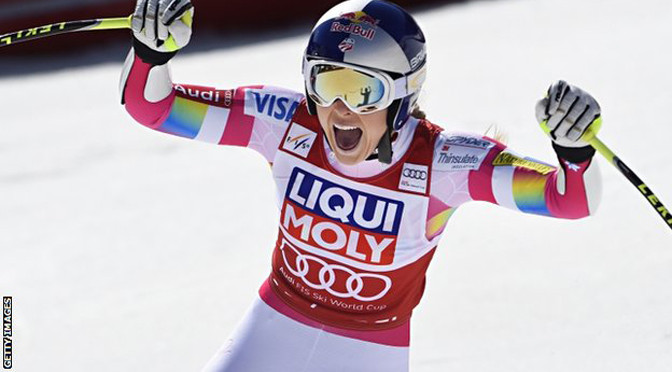 Winter Sports: Lindsey Vonn equals Ingemar Stenmark's World Cup record
