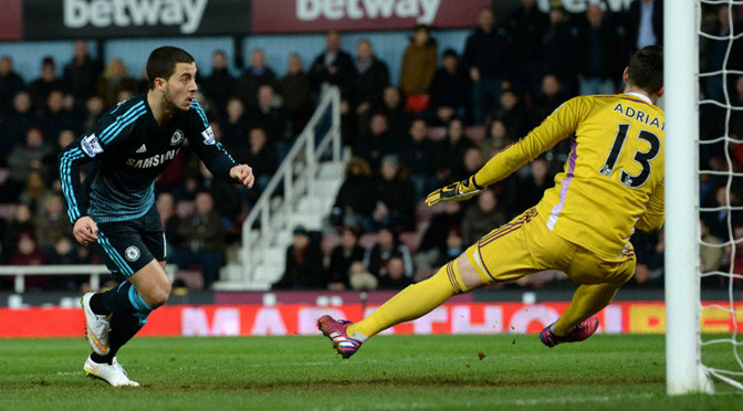 Premiership: West Ham 0-1 Chelsea